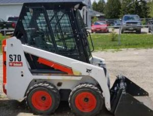 excavation and earth moving category photo of a skid steer